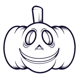 Smiley carved pumpkin icon line