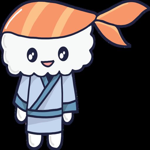 Smiley kawaii sushi boy cartoon