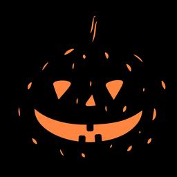 Ilustración de calabaza negra sonriente