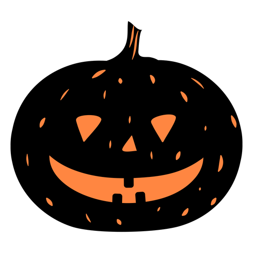 Smiling black pumpkin illustration Transparent PNG