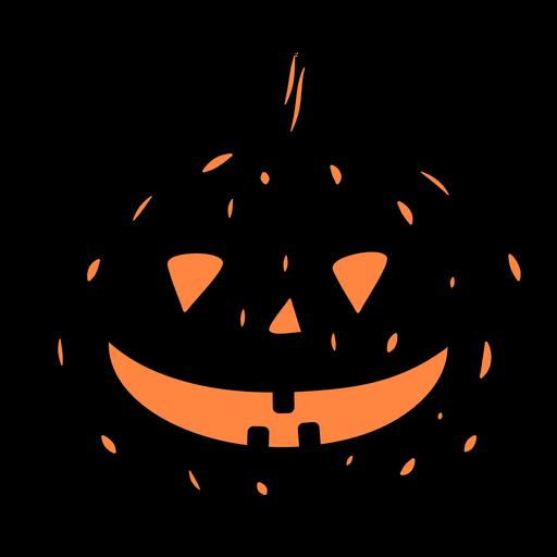Smiling black pumpkin illustration
