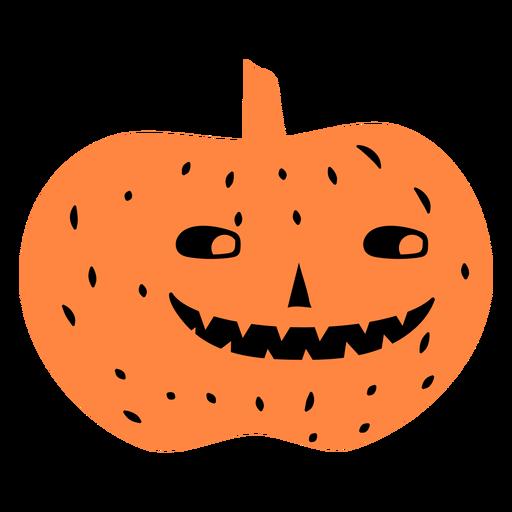 Smiling carved pumpkin illustration