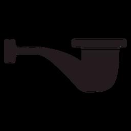 Vista lateral de cachimbo preto
