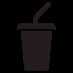 Copo de refrigerante preto