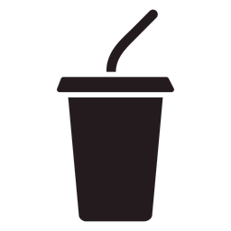Soft drink cup black