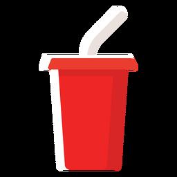 Ícone plano do copo de refrigerante