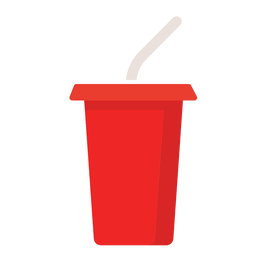 Soft drink cup flat icon