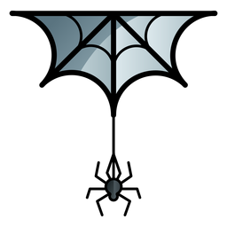 Icono de dibujos animados araña y web