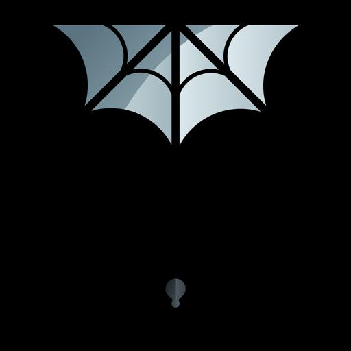 Spider and web cartoon icon