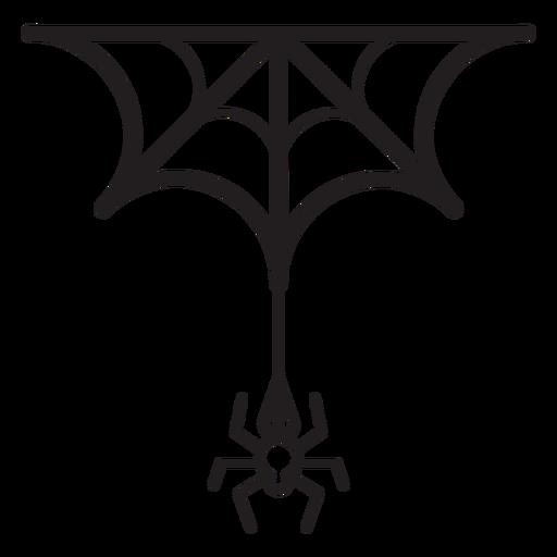 Icono de línea araña y web Transparent PNG