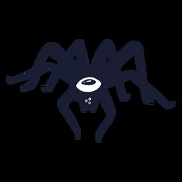 Silhueta de monstro aranha