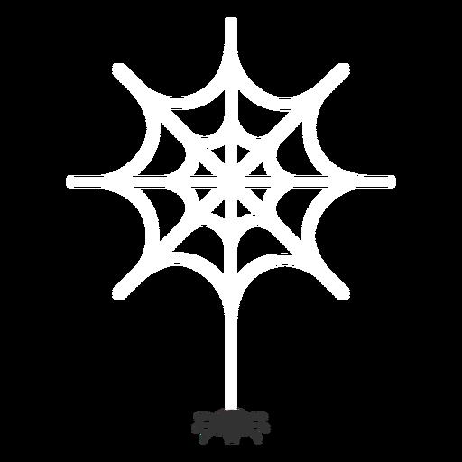 Spider on spiderweb flat halloween Transparent PNG