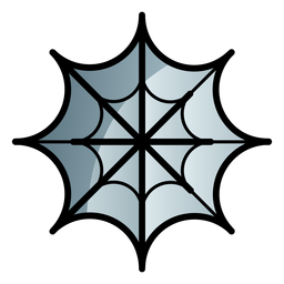 Spider web cartoon icon