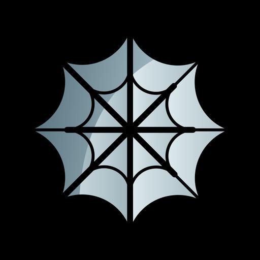 Spider web cartoon icon