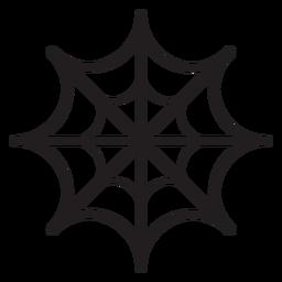 Icono de línea de telaraña