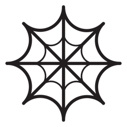 Spider web line icon