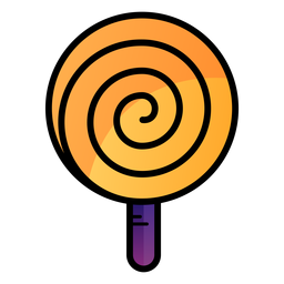 Spiral lollipop cartoon icon