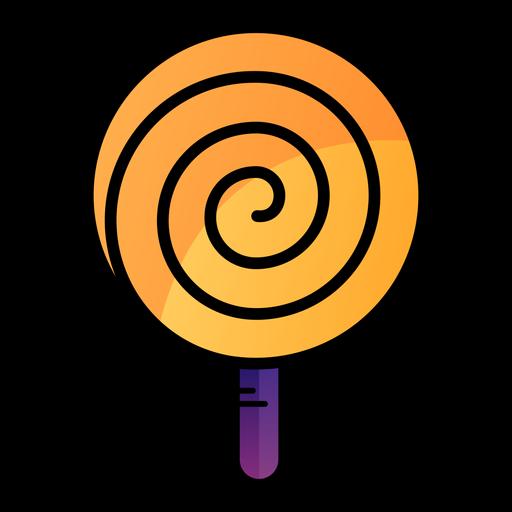 Spiral lollipop cartoon icon