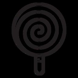 Ícone de linha de pirulito em espiral