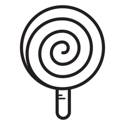 Spiral lollipop line icon
