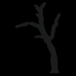Silhueta de árvore nua assustador
