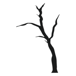 Spooky bare tree silhouette