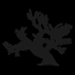 Silhueta de árvore assustador