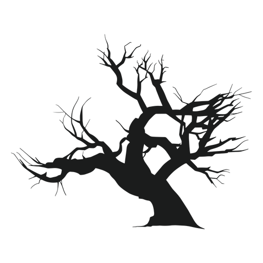 Silueta de árbol espeluznante