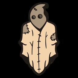 Dibujado a mano fantasma cosido