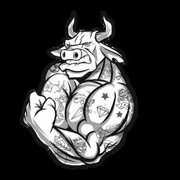 Fuerte personaje de toro