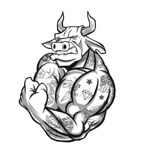 Strong bull character Transparent PNG