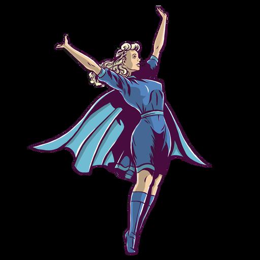 Superhero girl Transparent PNG