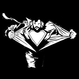 Superhéroe reveladora silueta