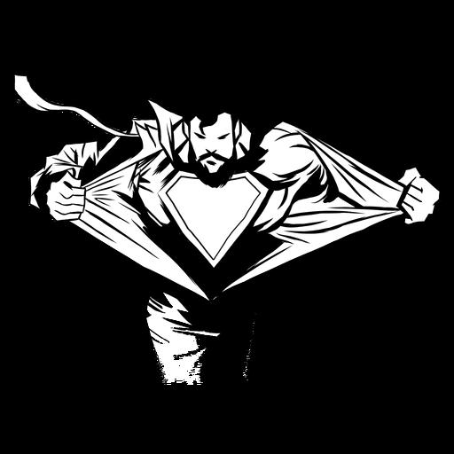 Superhero revealing silhouette Transparent PNG
