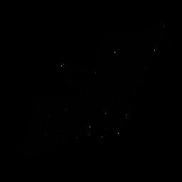 Cisne extendiendo alas elegante negro