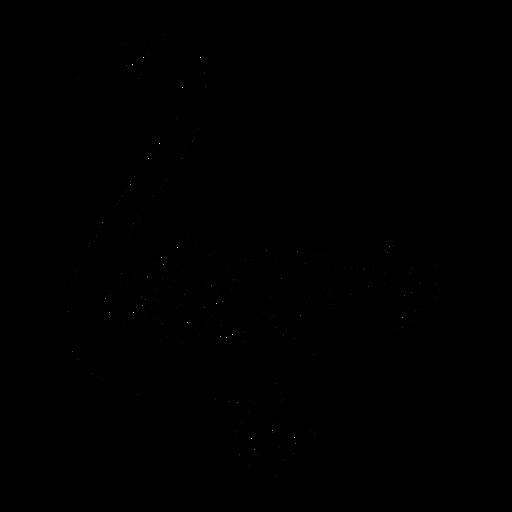 Swan swimming stylish black Transparent PNG