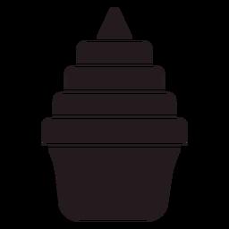 Sweet cupcake black