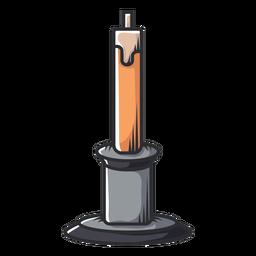 Ícone de desenho animado de suporte de vela cone