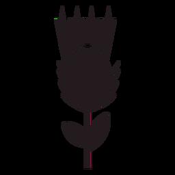 Thistle floral emblem black