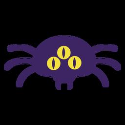 Aranha de três olhos plana halloween