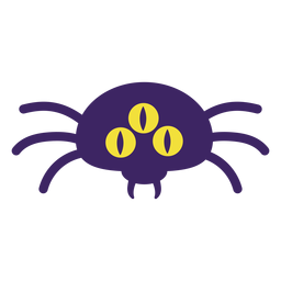 Three eyed spider flat halloween