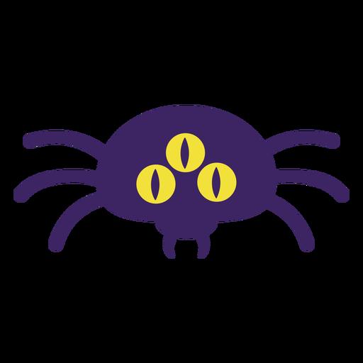 Three eyed spider flat halloween