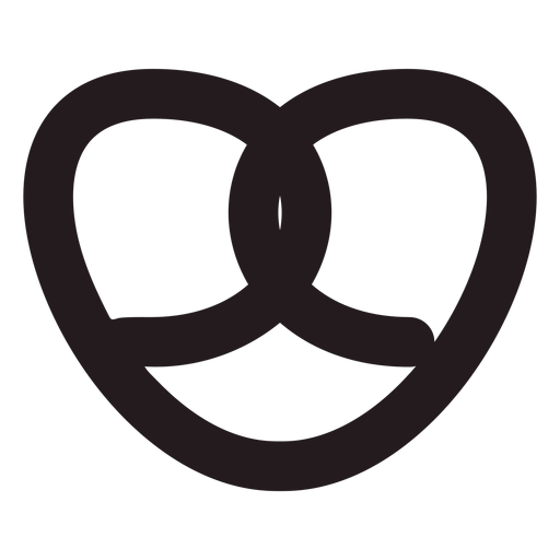 Traditional pretzel black Transparent PNG