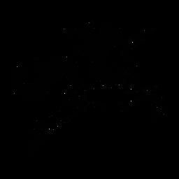 Einhorn springt stilvoll schwarz
