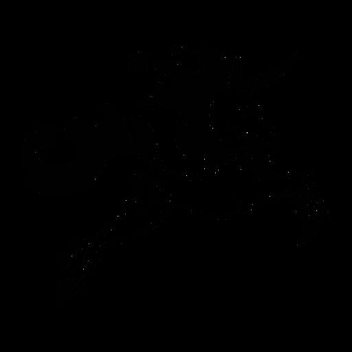 Unicornio saltando elegante negro