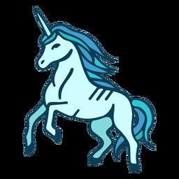 Dibujos animados de cría de unicornio