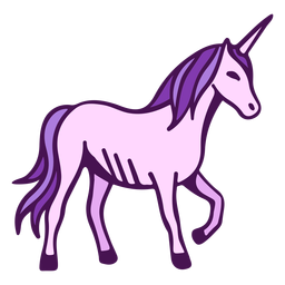 Unicorn side view cartoon