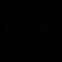 Einhorn, das stilvolles Schwarz geht