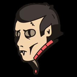 Vampire head hand drawn