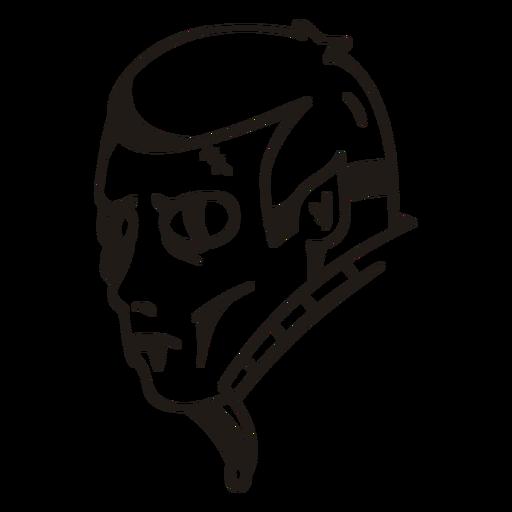 Vampire head hand drawn silhouette